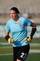 Sky Blue FC goalkeeper Jenni Branam (23). The Philadelphia Independence defeated Sky Blue FC 4-1 during a Women's Professional Soccer (WPS) match at John A. Farrell Stadium in West Chester, PA, on July 24, 2010.