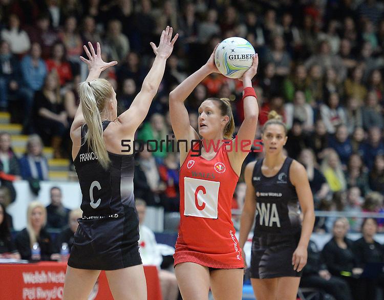 Wales Kyra Jones  <br /> <br /> Swansea University International Netball Test Series: Wales v New Zealand<br /> Ice Arena Wales<br /> 08.02.17<br /> ©Ian Cook - Sportingwales