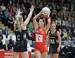 Wales Kyra Jones  <br /> <br /> Swansea University International Netball Test Series: Wales v New Zealand<br /> Ice Arena Wales<br /> 08.02.17<br /> ©Ian Cook - Sportingwales