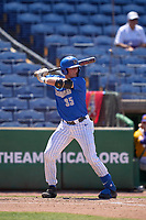 Memphis Tigers Hunter Goodman (35) bats during a game against the East Carolina Pirates on May 25, 2021 at BayCare Ballpark in Clearwater, Florida.  (Mike Janes/Four Seam Images)
