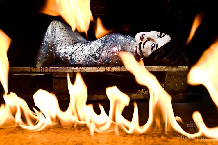 Model: Melissa Hayward.Photographer: Angela Halpin.Special effects: Jason Foran.Make Up: Vanity Make up