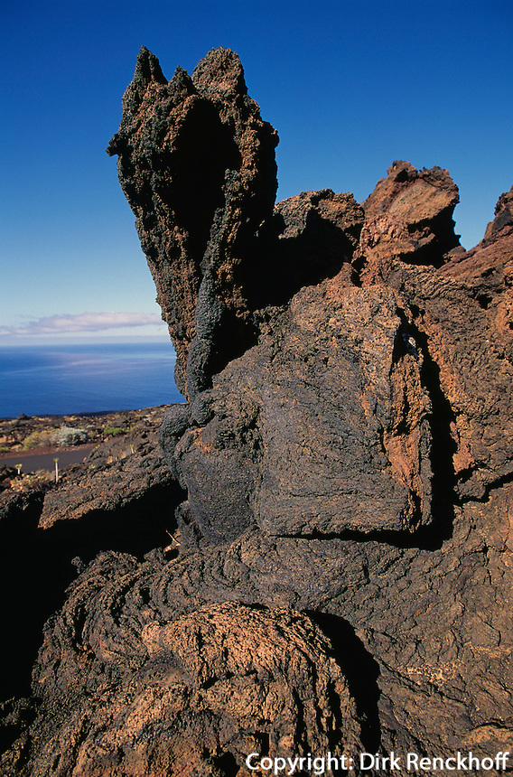 Stricklava, El Lajial bei Restinga, El Hierro, Kanarische Inseln, Spanien
