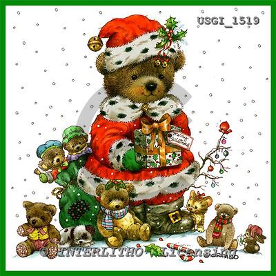 GIORDANO, CHRISTMAS ANIMALS, WEIHNACHTEN TIERE, NAVIDAD ANIMALES, Teddies, paintings+++++,USGI1519,#XA#
