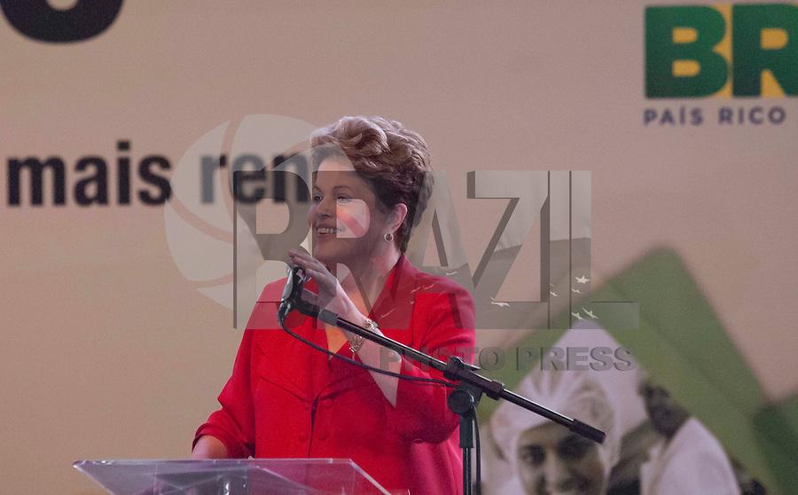 BELO HORIZONTE-MG-27.08.2013-CERIMÔNIA DE FORMATURA DE ALUNOS DO PRONATEC- A presidenta Dilma Rousseff durante a cerimônia de formatura de 2.600 alunos do Pronatec na Serraria Souza Pinto em Belo Horizonte na tarde desta terça-feira,27 - (Foto: Sergio Falci / Brazil Photo Press).