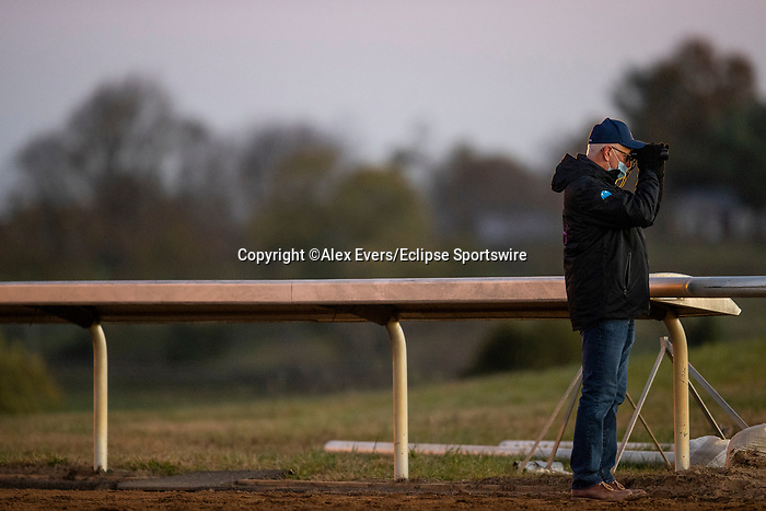 November 4, 2020: Todd Pletcher at Keeneland Racetrack in Lexington, Kentucky on November 4, 2020. Alex Evers/Eclipse Sportswire/Breeders Cup