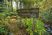 Abe Emerson Marsh Sign  located in Candia, New Hampshire USA