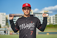 Birmingham Barons Nick Madrigal  (7) poses for a photo before a Southern League game against the Chattanooga Lookouts on July 24, 2019 at Regions Field in Birmingham, Alabama.  Chattanooga defeated Birmingham 9-1.  (Mike Janes/Four Seam Images)