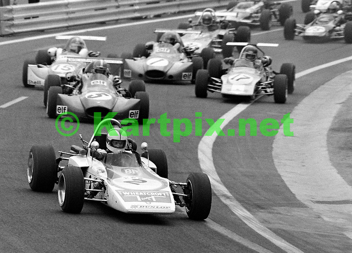 Roger Williamson on his way to winning the French Grand Prix support race at Charade.<br /> <br /> Trophée d'Auvergne 1972<br /> Championnat de France, Rd 10<br /> Circuit d'Auvergne, Charade, Clermont-Ferrand, France
