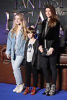 "Anais Gallagher, Donovan Gallagher and Sara MacDonald<br /> at the premiere of ""Fantastic Beasts and where to find them"", Odeon Leicester Square, London.<br /> <br /> <br /> ©Ash Knotek  D3198  15/11/2016"