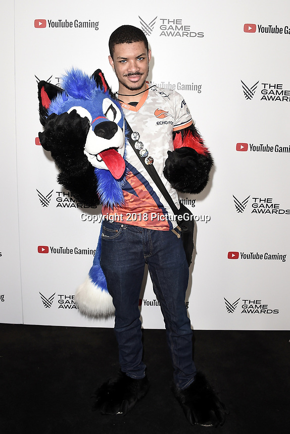 """LOS ANGELES - DECEMBER 6: Dominique """"Sonic Fox"""" McLean attends the 2018 Game Awards at the Microsoft Theater on December 6, 2018 in Los Angeles, California. (Photo by Scott Kirkland/PictureGroup)"""