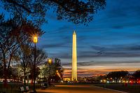 Washington Monument Sunset National Mall