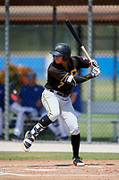 Pittsburgh Pirates right fielder Bligh Madris (7) at bat during a Florida Instructional League game against the Toronto Blue Jays on September 20, 2018 at the Englebert Complex in Dunedin, Florida.  (Mike Janes/Four Seam Images)