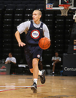 Chase Fisher at the NBPA Top100 camp at the John Paul Jones Arena Charlottesville, VA. Visit www.nbpatop100.blogspot.com for more photos. (Photo © Andrew Shurtleff)