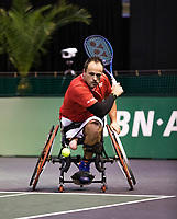 Rotterdam, The Netherlands, 4 march  2021, ABNAMRO World Tennis Tournament, Ahoy, First round wheelchair: Tom Egberink (NED).<br /> Photo: www.tennisimages.com/