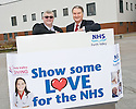 ::  NHS FORTH VALLEY ROYAL HOSPITAL, LARBERT :: FORTH VALLEY GIVING :: SHOW SOME LOVE FOR THE NHS CAMPAIGN :: NHS FORTH VALLEY CHAIRMAN IAN MULLEN (RIGHT) LAUNCHES THE CAMPAIGN WITH PASTOR FRANK HARTLEY FROM CRAIGMAILEN CHURCH, BO'NESS ::