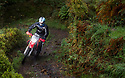 06/10/18<br /> <br /> David Johnson, Honda CRF.<br /> <br /> After battling hours of heavy rain, competitors slither up a hill known as the corkscrew in near Kettleshulme in the Cheshire Peak District National Park. Hundreds of other cars and motorcycles took part in today's Edinburgh Trial. The Motorcyling Club's 94th annual long distance navigation trial started near Tamworth at midnight and finishes this afternoon near Buxton. The original trial ran from London to Edinburgh.<br /> <br /> All Rights Reserved: F Stop Press Ltd. +44(0)1335 344240  www.fstoppress.com www.rkpphotography.co.uk