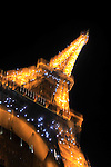Night view of Eiffel Tower. City of Paris. Paris. France