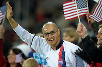 USA fan. US Women's National Team defeated Germany 1-0 at Impuls Arena in Augsburg, Germany on October 29, 2009.