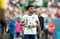 DENVER, CO - JUNE 6: Weston McKennie #8 of the United States during a game between Mexico and USMNT at Mile High on June 6, 2021 in Denver, Colorado.