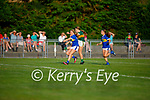 Kerry's Jill Quirke effort blocked by Racheal O'Meara of Tipperary in the Munster LGFA U14 football championship