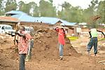 Hospital construction workers in Nayagatare, Rwanda....