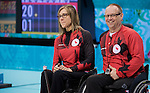 Sonja Gaudet and Dennis Thiessen, Sochi 2014 - Wheelchair Curling // Curling en fauteuil roulant.<br />