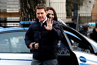 Actor Tom Cruise and actress Hayley Atwell saying hallo to their fans on the set of the film Mission Impossible 7 at Imperial Fora in Rome. <br /> Rome (Italy), October 12th 2020<br /> Photo Samantha Zucchi Insidefoto