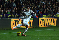 Tuesday, 28 January 2014<br /> Pictured: Jonathan de Guzman of Swansea<br /> Re: Barclay's Premier League, Swansea City FC v Fulham at the Liberty Stadium, south Wales.