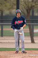 Cleveland Indians catcher Joshua Rolette (11) during a Minor League Spring Training game against the Chicago White Sox at Camelback Ranch on March 16, 2018 in Glendale, Arizona. (Zachary Lucy/Four Seam Images)