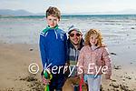 Enjoying a stroll in Ballyheigue on the beach on Thursday, l to r: Fionn, Derek and Brídín Carroll.
