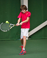 20131201,Netherlands, Almere,  National Tennis Center, Tennis, Winter Youth Circuit,  Jort Nijdam    <br /> Photo: Henk Koster
