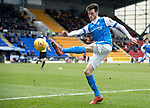 St Johnstone v Motherwell…07.04.18…  McDiarmid Park    SPFL<br />Scott Tanser crossed the ball<br />Picture by Graeme Hart. <br />Copyright Perthshire Picture Agency<br />Tel: 01738 623350  Mobile: 07990 594431