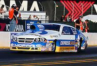Jul. 26, 2013; Sonoma, CA, USA: NHRA pro stock driver Allen Johnson during qualifying for the Sonoma Nationals at Sonoma Raceway. Mandatory Credit: Mark J. Rebilas-