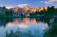 Verdi Peak from Island Lake<br /> Ruby Mountains<br /> Humboldt National Forest<br /> Great Basin,  Nevada