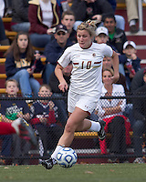 Boston College forward/midfielder Gibby Wagner (10) on the attack.  Boston College defeated Marist College, 6-1, in NCAA tournament play at Newton Campus Field, November 13, 2011.