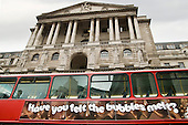 'Have you felt the bubbles melt?' bus advert passes the Bank of England.