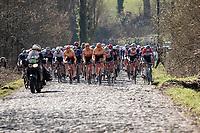 up the extra rough Mont Saint Laurent cobbles<br /> <br /> 73rd Kuurne - Brussels - Kuurne 2021<br /> ME (1.Pro)<br /> 1 day race from Kuurne to Kuurne (BEL/197km)<br /> <br /> ©kramon