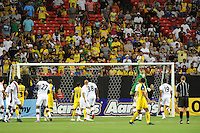 Goalkeeper Shay Given tips a Club America free kick over the bar in the match's closing minutes. The 2010 Atlanta International Soccer Challenge was held, Wednesday, July 28, at the Georgia Dome, featuring a match between Club America and Manchester City. After regulation time ended 1-1, Manchester City was awarded the victory, winning 4-1, in penalty kicks.