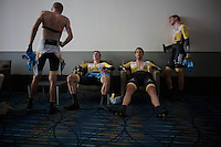 Team LottoNL-Jumbo after finishing the TTT<br /> <br /> Elite Men's Team Time Trial<br /> UCI Road World Championships Richmond 2015 / USA