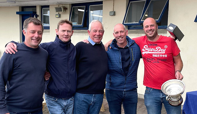 The 2021 Howth 17 champions with Deilginis – wall-to-wall Masseys except for Mikey Toomey (second left). Photo: Brian Turvey