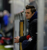 20180126 - OOSTAKKER , BELGIUM : Gent's head coach Dave  Mattheus pictured during the quarter final of Belgian cup 2018 , a womensoccer game between KAA Gent Ladies and RSC Anderlecht , at the PGB stadion in Oostakker , friday 27 th January 2018 . PHOTO SPORTPIX.BE   DAVID CATRY