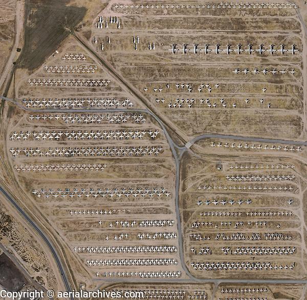aerial photo map military aircraft boneyard Davis Monthan Air Force Base, Tuscon, Arizona
