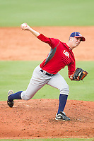 Matt Pirro #46 of Team Red in action against Team Blue during the USA Baseball 18U National Team Trials at the USA Baseball National Training Center on June 30, 2010, in Cary, North Carolina.  Photo by Brian Westerholt / Four Seam Images