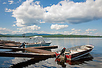 Boats at Rangeley Lake State Park, Rangeley, Maine, USA