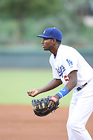 Ibandel Isabel (51) of the AZL Dodgers in the field at first base during a game against the AZL Diamondbacks at the Los Angeles Dodgers Spring Training Complex on July 3, 2015 in Glendale, Arizona. Diamondbacks defeated the Dodgers, 5-1. (Larry Goren/Four Seam Images)