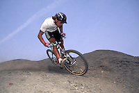 Jason McRoy riding Specialized bike and kit nr Whitby North Yorkshire  1995.pic © Steve Behr/Stockfile.info@stockfile.co.uk