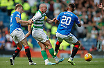 01.09.2019 Rangers v Celtic: Alfredo Morelos clips Scott Brown