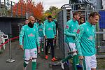17.10.2020, Schwarzwald Stadion, Freiburg, GER, 1.FBL, SC Freiburg vs SV Werder Bremen<br /> <br /> im Bild / picture shows<br /> <br /> Ömer / Oemer Toprak (Werder Bremen #21)<br /> Davie Selke  (SV Werder Bremen #09)<br /> Nick Woltemade (werder Bremen #41)<br /> Christian Groß / Gross (Werder Bremen #36)<br /> Foto © nordphoto / Bratic<br /> <br /> DFL REGULATIONS PROHIBIT ANY USE OF PHOTOGRAPHS AS IMAGE SEQUENCES AND/OR QUASI-VIDEO.