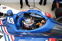 28th May 2021; Indianapolis, Indiana, USA;  NTT Indy Car Series car driver Tony Kanaan (48) sits in his car during Miller Lite Carb Day as teams prepare for the 105th running of the Indianapolis 500