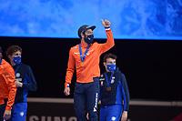 SPEEDSKATING: DORDRECHT: 07-03-2021, ISU World Short Track Speedskating Championships, Podium 5000m Relay, Sjinkie Knegt (NED), ©photo Martin de Jong
